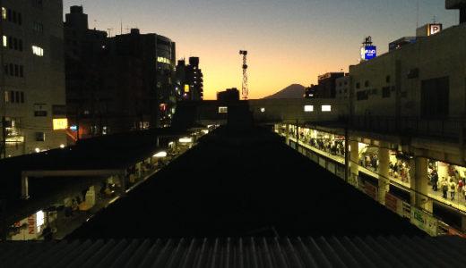 藤沢駅の富士山スポット